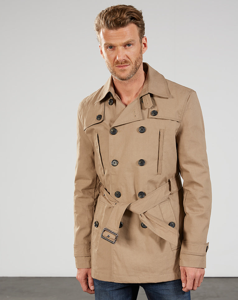 TRENCH BEIGE DÉPERLANT