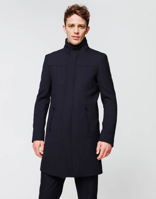 Manteau long navy