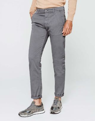 Chino fashion gris moyen