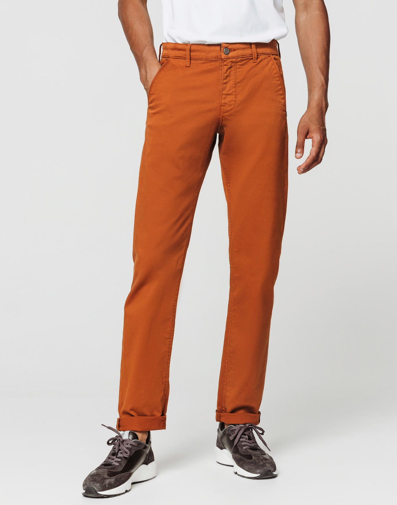 Chino fashion orange brûlé