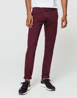 Chino satin bordeaux