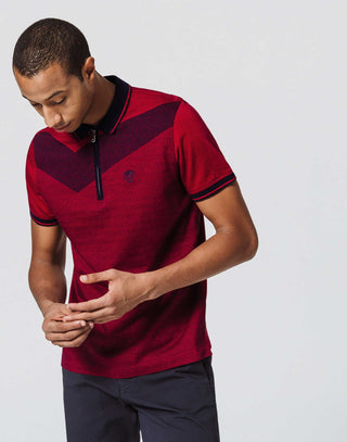 Polo Zip Rouge