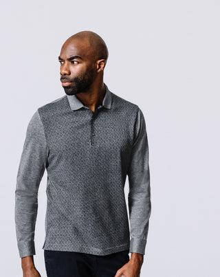 POLO JERSEY GRIS CHINÉ