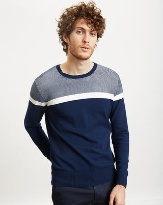 PULL COL ROND COLOR BLOCK