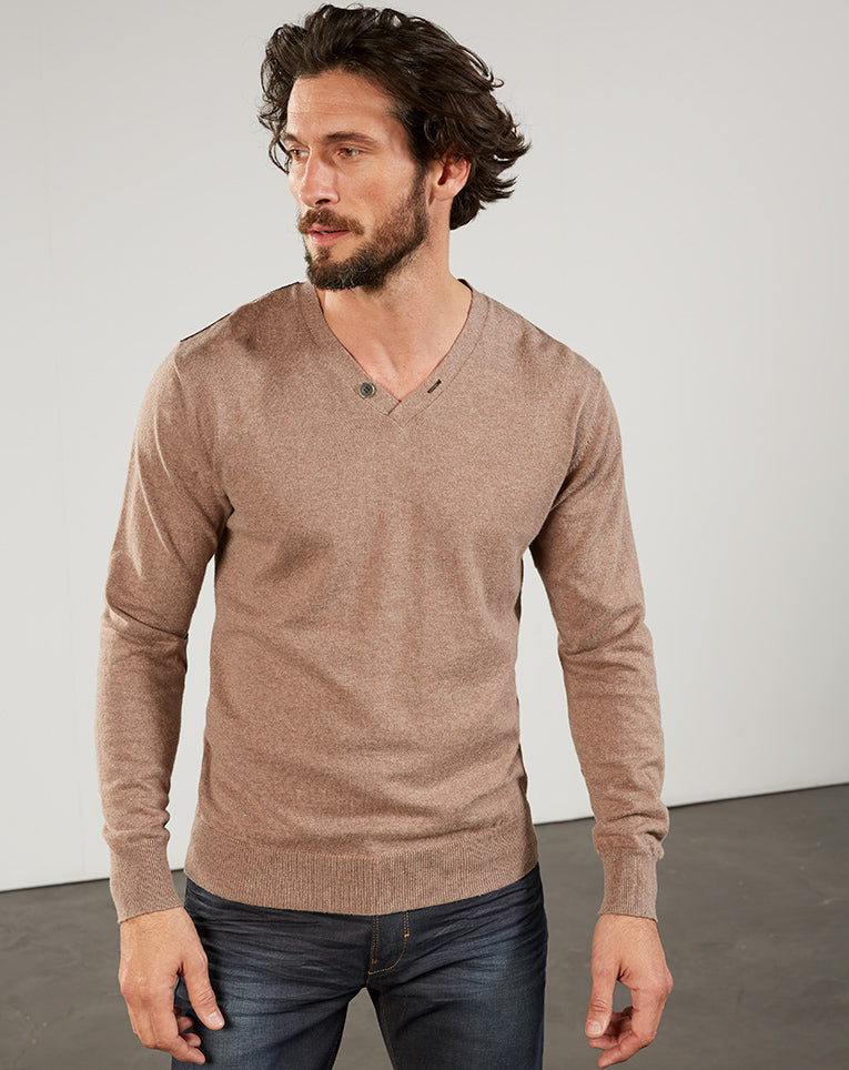 Pull col v cache taupe