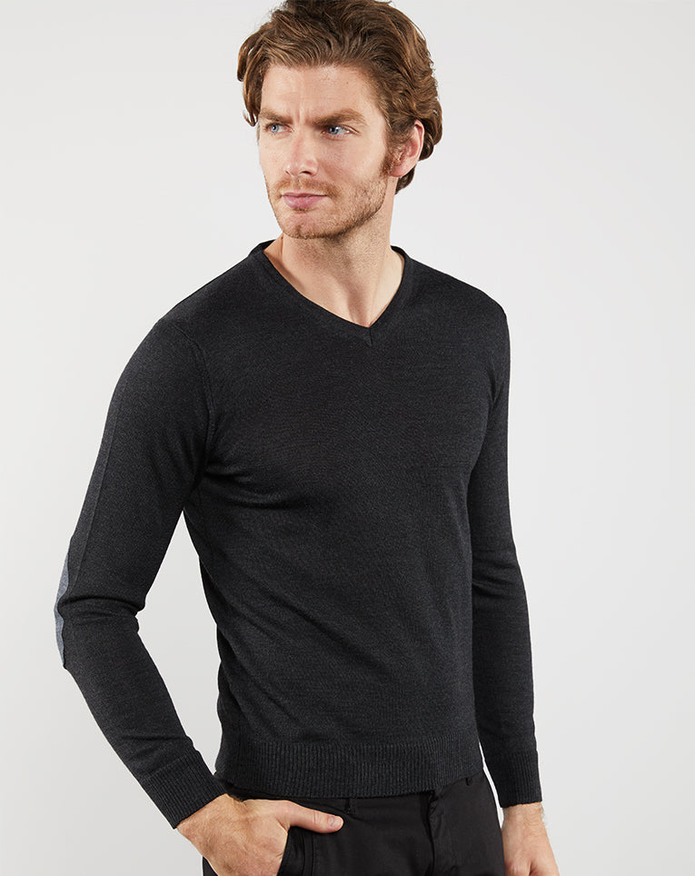 PULL À COUDIERES ANTHRACITE