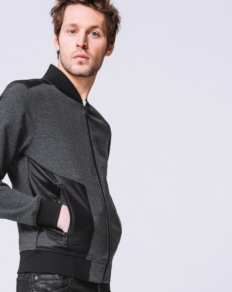 SWEAT COL TEDDY ANTHRACITE