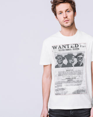 T SHIRT WANTED ÉCRU