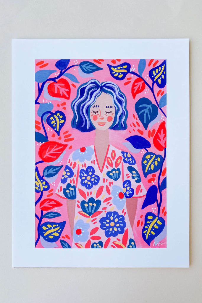 Yumi in Color Art Prints - Pixelated Boutique