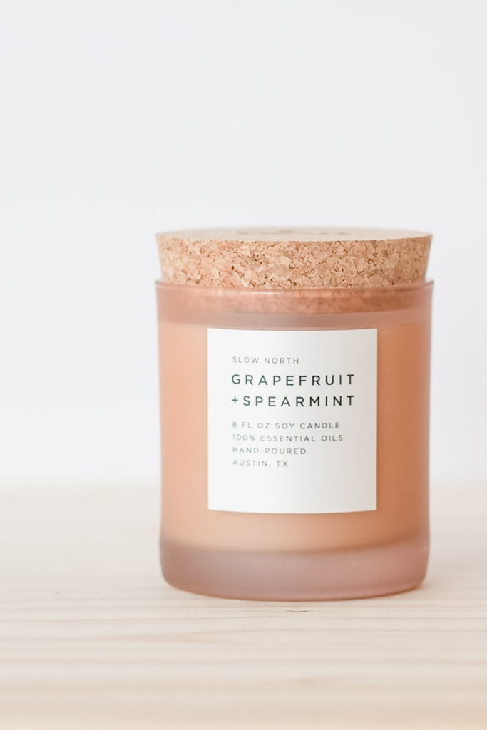 Grapefruit + Spearmint Frosted Candle - Pixelated Boutique