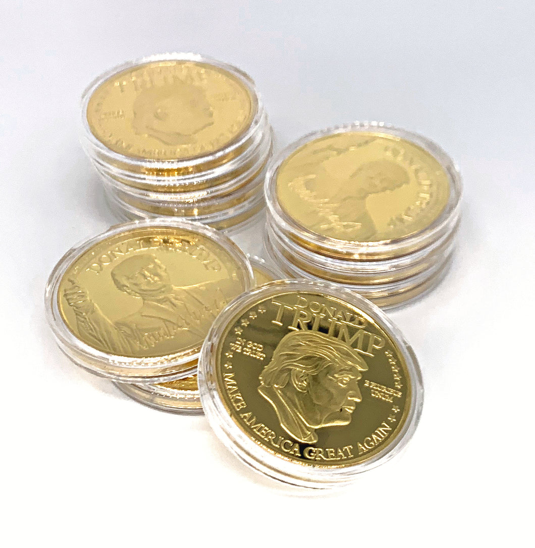 Gold President Trump Collector's Coin
