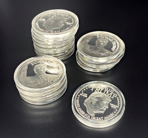 Set of Two Silver President Trump Collector's Coins