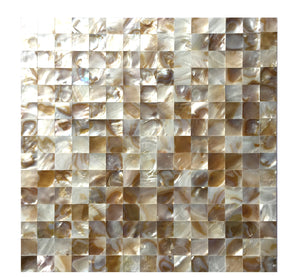Mother of Pearl Shell Mosaic Tile / backsplash tile for kitchen/Sticker Tile / Bathroom Tile / kitchen tiles for wall