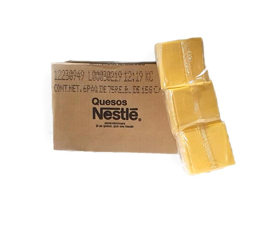 Queso Americano Nestle - Display de 75 unidades de 15 gr c/u
