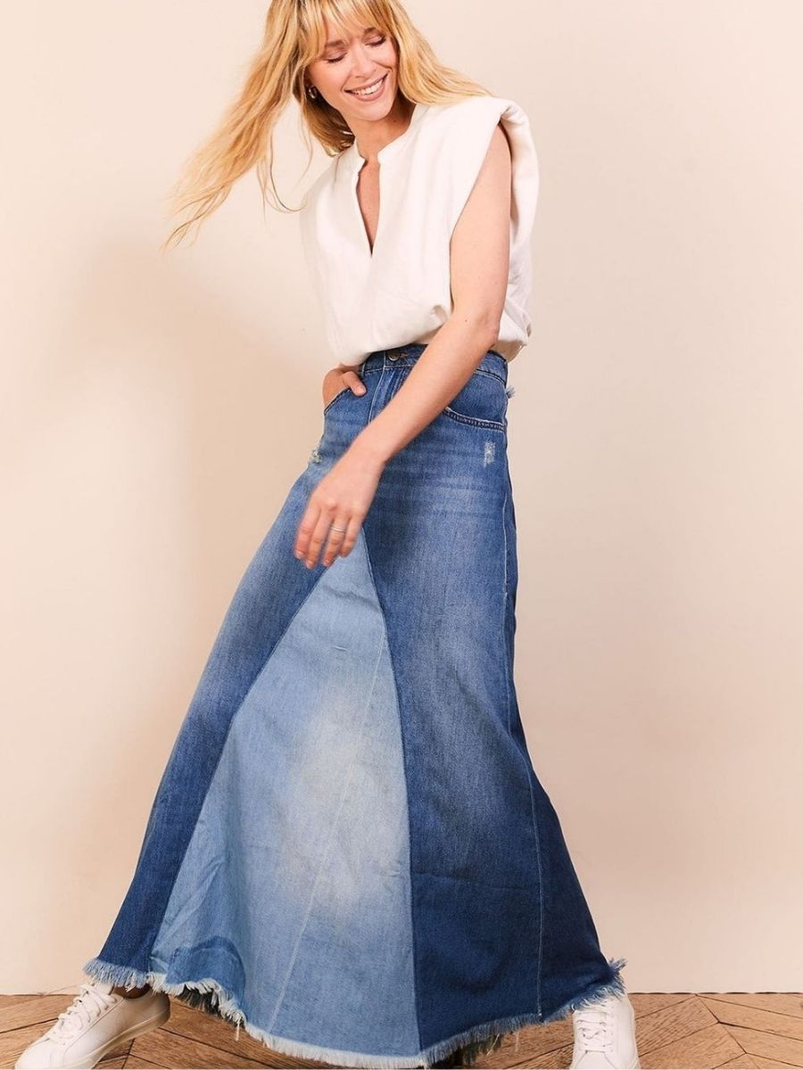 HEARTLESS JEANS MAXI SKIRT