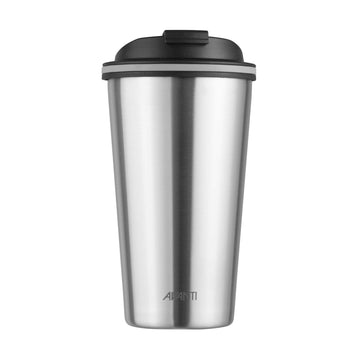 Go Cup Thermos Double Walled Cup 410ml - Brushed Stainless