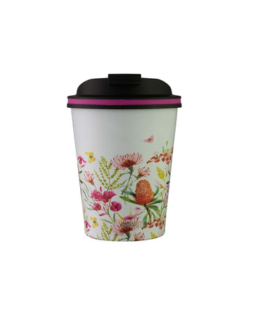 Avanti Go Cup Thermos Double Walled Cup 280ml - Natives White