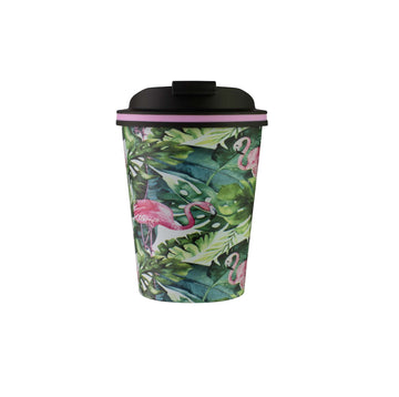 Go Cup Thermos Double Walled Cup 280ml - Flamingo Leaf