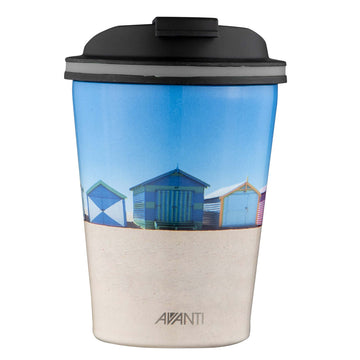 Avanti Go Cup Thermos Double Walled Cup 280ml - Beach Houses