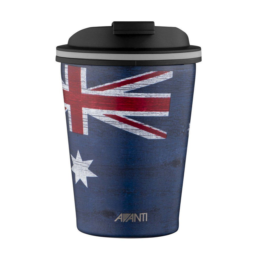 Avanti Go Cup Thermos Double Walled Cup 280ml - Aussie Flag