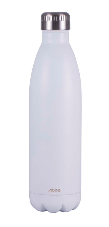 Water/Coffee Double Walled Thermos Bottle 750ml - Matt White