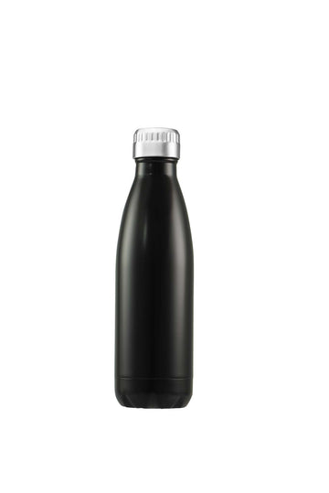 Water/Coffee Double Walled Thermos Bottle 500ml - Matt Black