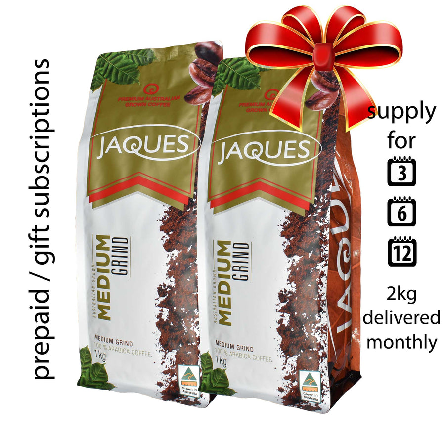 Prepaid Coffee Subscription 2Kg (every month) FREE SHIPPING*