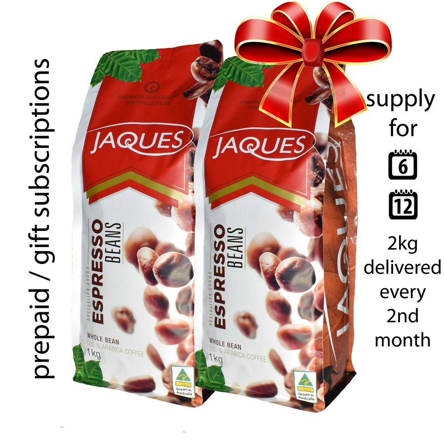 Prepaid Coffee Subscription 2Kg (every 2nd month) FREE SHIPPING*