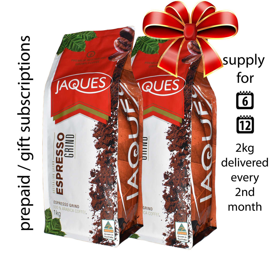 Prepaid Coffee Subscription 2Kg (every 2nd month) FREE SHIPPING