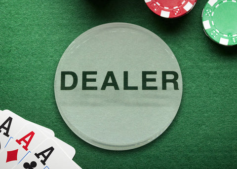 Dealer Button - Clear