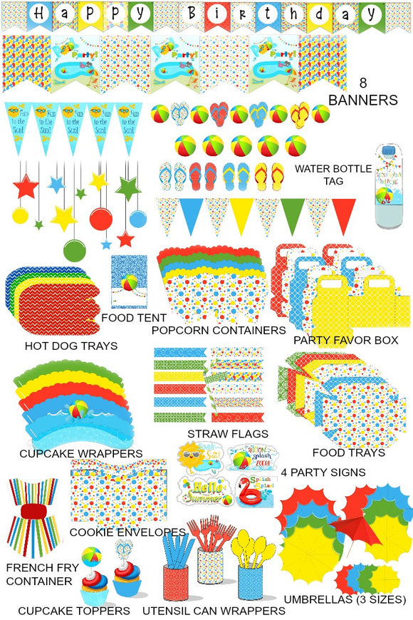 Kids Pool Birthday Party Supplies
