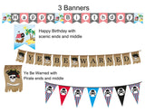 Stripped Pirate Food Tray Instant Digital Download Pirate Birthday Party