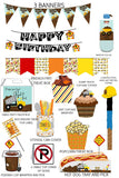 Dump Truck Cupcake Wrapper Instant Digital Download Construction Kids Birthday Party