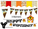 Dump Truck Cupcake Topper Picks Instant Digital Download Construction Kids Birthday Party