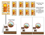 Construction French Fry Treat Box Instant Digital Download Construction Kids Birthday Party
