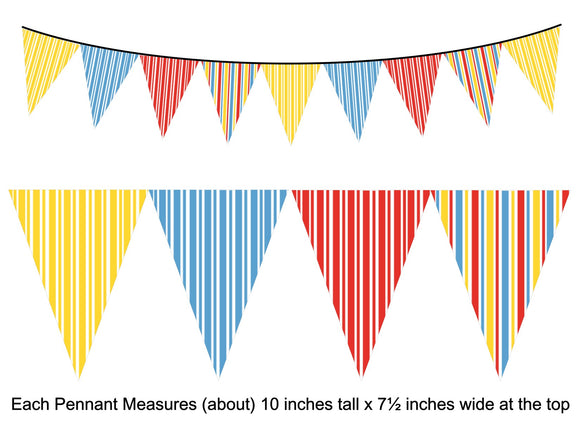 Fair Tent Pennant Banner Instant Digital Download Country Fair Kids Birthday Party