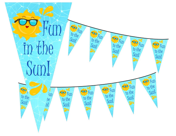 Splish Splash Pool Party Instant Digital Download Fun in the Sun Banner