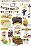 Colorful Halloween Banner Instant Digital Download Happy Halloween Kids Party