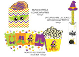 Tall Halloween Party Favor Bags Instant Digital Download Happy Halloween Kids Party