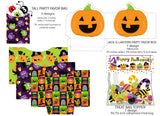Halloween Ball and Star Banner Instant Digital Download Happy Halloween Kids Party