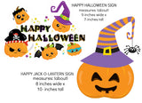Trick or Treat Jack-O-Lantern Banner Instant Digital Download Happy Halloween Kids Party