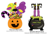 FOUR Halloween Party Signs Instant Digital Download Happy Halloween Kids Party