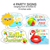 Splish Splash Party Instant Digital Download Party Favor Box with Handles
