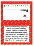 Happy Birthday Dough Gift Topper Digital PDF Instant Download
