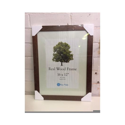 16 x 12 Inch Dark Wood Photo Frame - whitworthprints