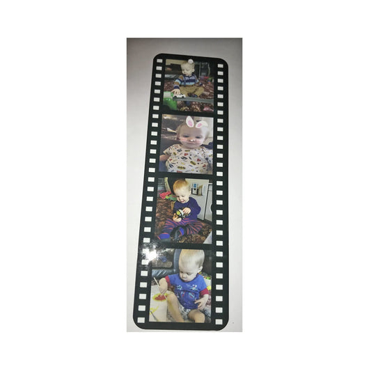 Long metal bookmark in film strip style. - whitworthprints