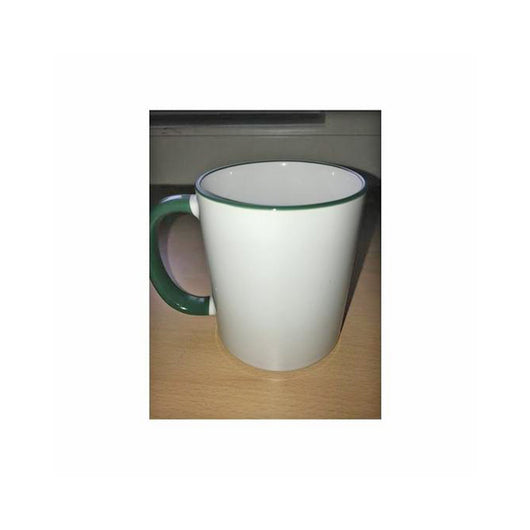 Personalised Photo Mug Dark Green Rim and Handle(11oz) - whitworthprints