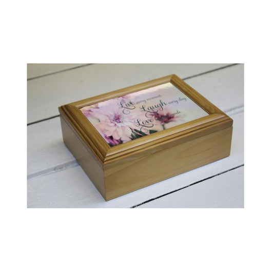 Personalised Rectangle Wooden Keepsake Box - whitworthprints