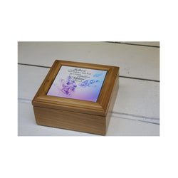 Personalised Square Wooden Keepsake Box - whitworthprints