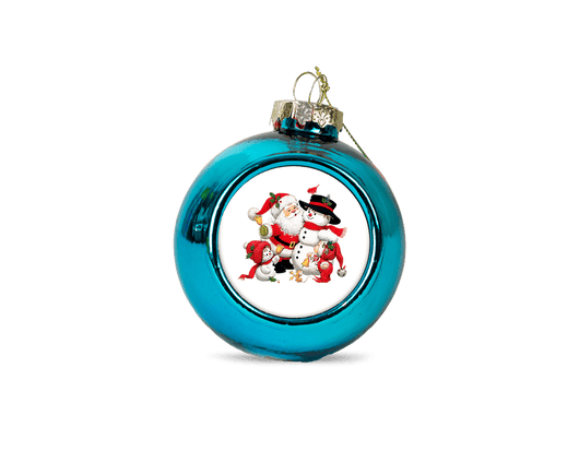 Personalised christmas bauble - blue - whitworthprints